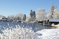 Zima w Tutzing na Jeziornym Starnberg Zdjęcie Royalty Free