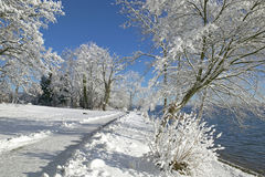 Zima w Tutzing na Jeziornym Starnberg, Niemcy Zdjęcia Royalty Free