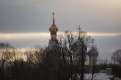 Zima w Vologda Obrazy Royalty Free