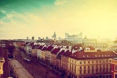Zima w Warszawa obraz stock