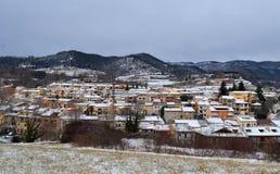 Zima w wiosce Zdjęcia Royalty Free