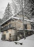 Zima w wiosce Obrazy Royalty Free