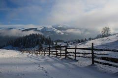 Zima w wsi Fotografia Royalty Free