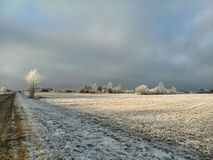 Zima w wsi Obrazy Stock