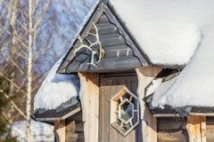 Zima w wsi Obrazy Royalty Free