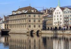 Zima w Zurich, Szwajcaria Obrazy Royalty Free