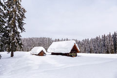 Zima wakacje dom Obraz Stock
