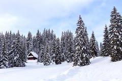 Zima wakacje dom obrazy royalty free