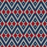 Zima wakacje puloweru projekt na wełnie dział teksturę Zdjęcia Stock