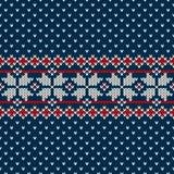Zima wakacje puloweru projekt na wełnie dział teksturę Obraz Royalty Free
