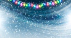 Zima wakacje tło Obrazy Stock