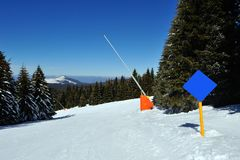Zima wakacje w górze Zdjęcie Stock