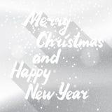 Zima wakacji śnieżnego bielu karta Fotografia Stock