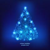 Zima wakacji dekoraci drzewo. Obrazy Stock