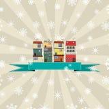 Zima wakacji karta Obrazy Royalty Free