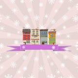 Zima wakacji karta Zdjęcia Royalty Free