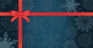 Zima wakacji papierowy tło z czerwonym łękiem Zdjęcia Stock