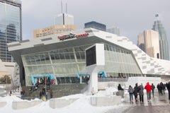 Zima weekendowy dzień przy akwarium Kanada Obraz Royalty Free
