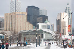 Zima weekendowy dzień przy Ropley akwarium Kanada Zdjęcie Royalty Free