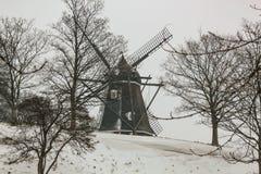 Zima widok Kastelsmollen w forcie Castellet w Kopenhaga, Dani zdjęcie royalty free