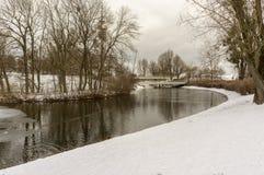Zima widok przy Olympiapark Monachium Munchen Niemcy Obrazy Royalty Free