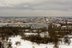 Zima widok przy Olympiapark Monachium Munchen Niemcy Zdjęcie Royalty Free