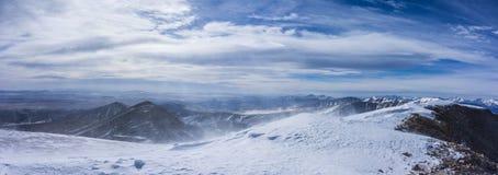 Zima widok, szczyt Mt sherri góry skaliste colorado fotografia royalty free