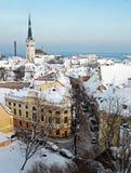 Zima widok Tallinn Zdjęcie Stock