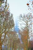 zima wieży eiffla Fotografia Stock