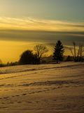 Zima wieczór Zdjęcia Stock