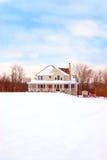 zima wiejskiego domu kraju Obrazy Stock