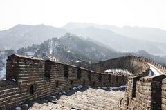 Zima wielki mur Zdjęcia Royalty Free