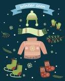 Zima wkrótce royalty ilustracja