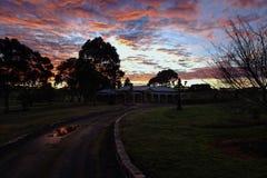 Zima wschód słońca zdjęcie royalty free