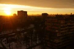 Zima wschód słońca Obrazy Royalty Free