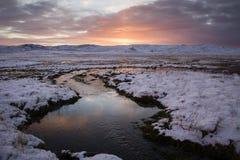 Zima wschód słońca Fotografia Royalty Free