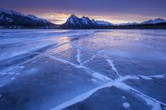 Zima wschód słońca nad Kootenay równiną Zdjęcia Stock