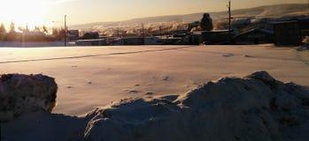 Zima wschodu słońca krajobraz Zdjęcie Royalty Free