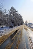 Zima wsi wioska Zdjęcia Royalty Free