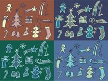 Zima wzór Zdjęcia Royalty Free