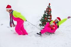 Zima zabawa Zdjęcie Stock