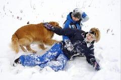 zima zabawy Obraz Royalty Free