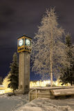 zima zegara Obrazy Stock