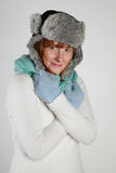 zima zimna kobieta Obrazy Stock
