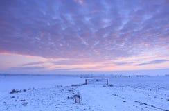 Zima zmierzch Zdjęcia Stock