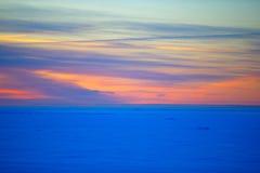 Zima zmierzch na zatoce Finlandia Obraz Stock