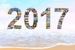 Zima zwrotników wakacje nowy rok, Wiecznie lato Obraz Stock