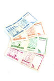 Zimbabwe billion dollar notes Royalty Free Stock Photo