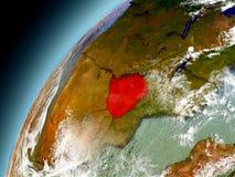 Zimbabwe de la órbita de Earth modelo Fotografía de archivo