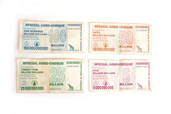 Zimbabwe dollars Royalty Free Stock Photo